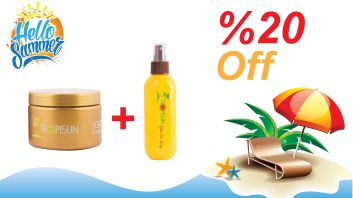 Tropisun Tanning Cream 350ml + After Sun Spray 200ml - Discount 20%