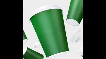 أكواب خضراء  وسط  50 كوب