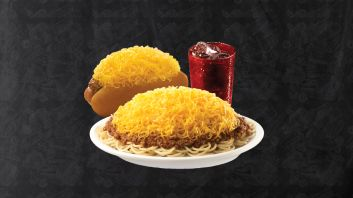Combo #1: 3-Way, Cheese Coney & Drink