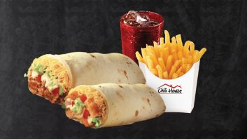 Combo #10:  Chinger Wrap, Fries & Drink