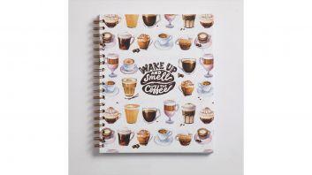 دفتر سلك القهوة حجم A4 كبير - 3 مواضيع
