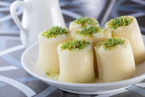 حلاوة للجبن بالقشطة الخام