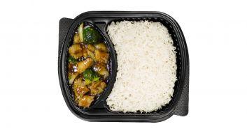 بروكلي السمك مع الأرز الأبيض