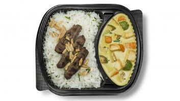 Kebab Curry with white rice