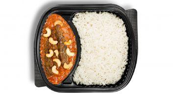 Kebab Izmeer with white rice