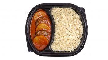 كفتة بالبندورة مع أرز القرنبيط
