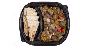 Meat sajiyeh with bread