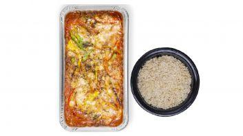 مسقعة الباذنجان مع أرز القرنبيط