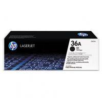 HP 36A Black Original LaserJet Toner Cartridge (CB436A)