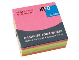 INFO Color Sticky notes ,7.5 x 7.5 cm