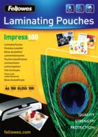 Fellowes A4 100Mic Laminating Pouches