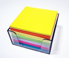 Colored Paper Cube