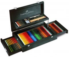 Faber Castell Art and Graphic Collection Mahogany Vaneer Case