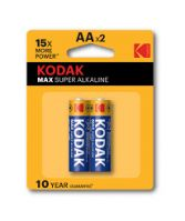 Kodak Max Alkaline AA Batteries Pack of 2