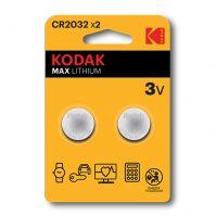 Kodak Lithium Button Cell batteries 2032 Pack of 2