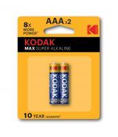 Kodak Max Alkaline AAA Batteries Pack of 2