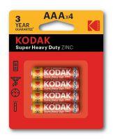 Kodak AAA Extra Heavy Duty Batteries Pack of 4