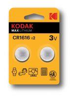 Kodak Lithium Button Cell batteries 1616 Pack of 2