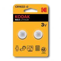 KODAK LITHIUM BUTTON CELL batteries 1632 PACK OF 2