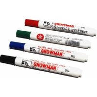 Snowman Whiteboard Markers Black
