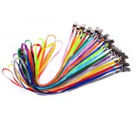 Nylon Neck Lanyards, 17-inch, Assorted Colors