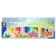 Staedtler Cardboard box containing 25 oil pastel crayons in assorted colours