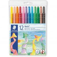 Staedtler Wallet containing 12 wax twister in assorted colors