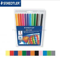 Staedtler Wallet containing 12 Fibre-tip pens in assorted colours