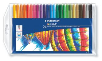 Staedtler Wallet containing 24 Fibre-tip pens in assorted colors
