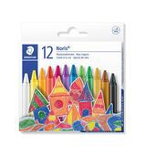 Staedtler Cardboard box containing 12 wax crayons in assorted colours