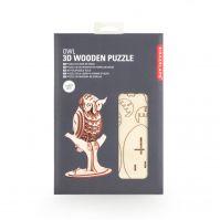 Kikkerland owl 3d wooden puzzle