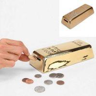 Kikkerland gold bar coin bank