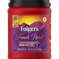 Folgers French Roast Medium Dark Roast Ground Coffee 292 g