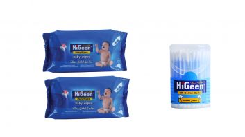 HiGeen Baby Wipes 72 Sheets