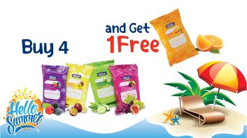 Buy 4 wipes 15 sheets and get one free